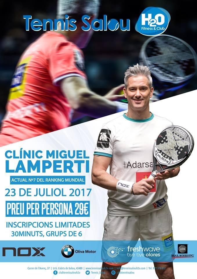 Clinic Miguel Lamperti Tennis Salou H2o